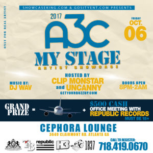 MY STAGE ARTIST SHOWCASE: OCT. 06
