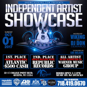 INDEPENDENT ARTIST SHOWCASE: OCT.01